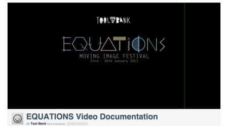 Video Documentation Equations Film Festival